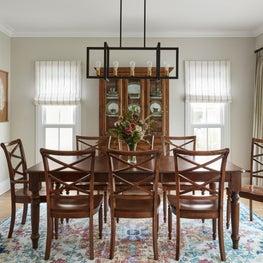 La Grange, Dinning Room with custom window treatments