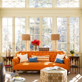 Sunroom with Moroccan inspired furniture