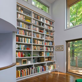 Mid-Century Modern Library in Westchester, NY