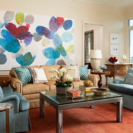 Living Room with Statement Art