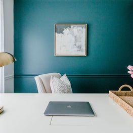 Bold Wall Color Home Office