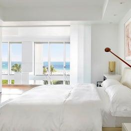 White Modern Ocean Front Bedroom
