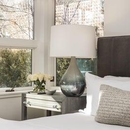 Aspen Core Townhome Master Bed Vignette