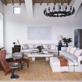 Grand scaled family room.
