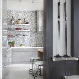 Modern, Ethnic kitchen with mosaic backsplash