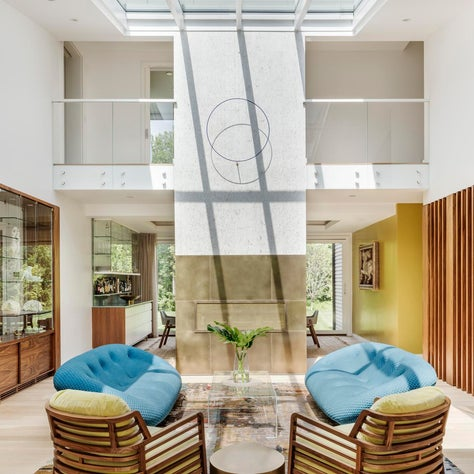 Blue Hills- Living Room