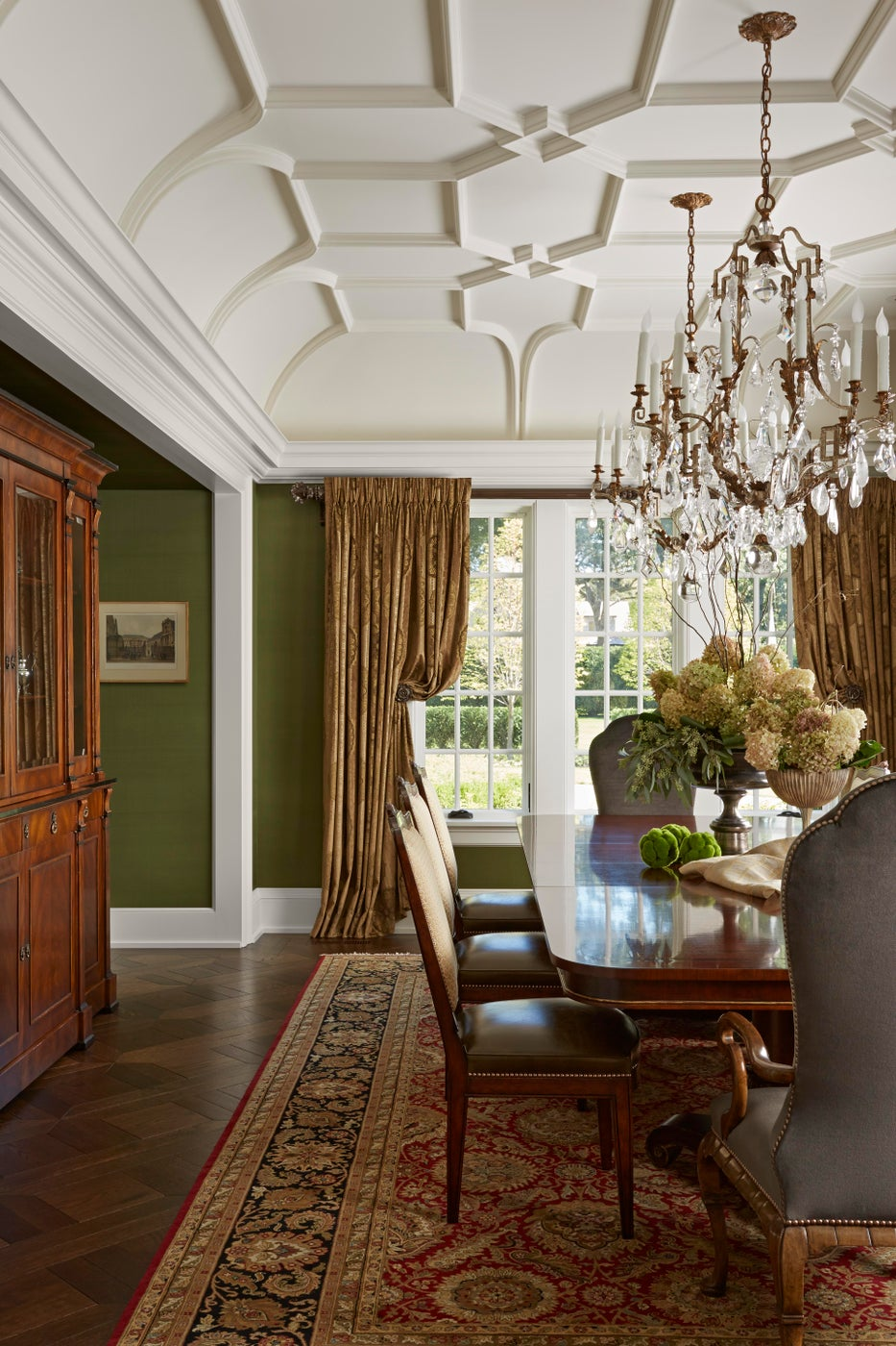 Plastered Fretwork Ceiling, Formal Dining Room