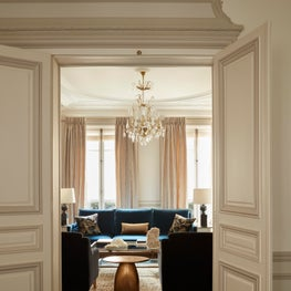 A glimpse of a neoclassical living room