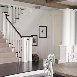 A Grand Stairwell and Dining Room