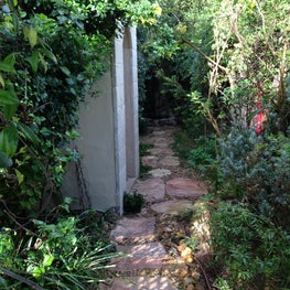 Home in Israel.Garden in Jerusalem