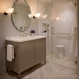Guest Bath at a Presidio Heights Residence