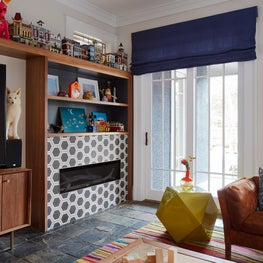 Evanston Family Room with Patterned Tiles