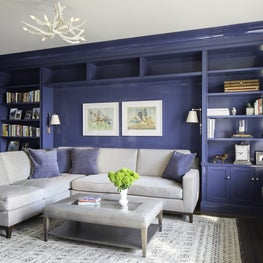 Upper West Side Apartment Library Bookcases