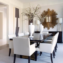 Transitional Dining Room with Neoclassical Elements