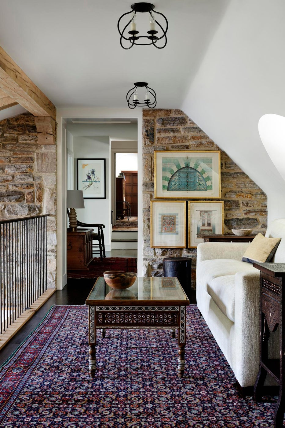 Stone Wall Gallery in a Hallway