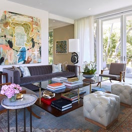 Formal Living room with mix of Modern and traditional elements, Atherton