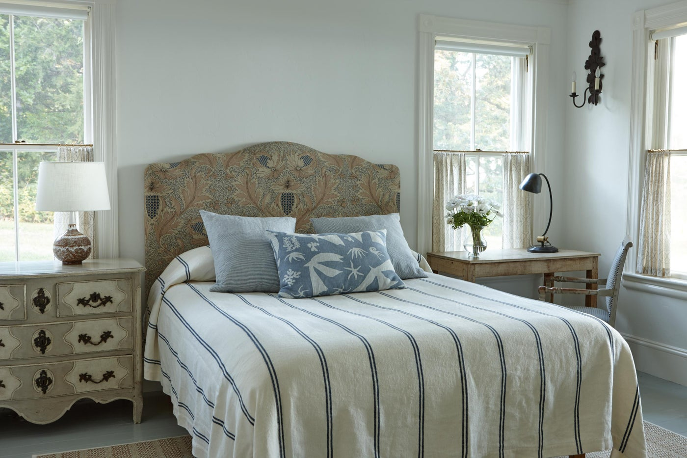 Guest bedroom in beach house.