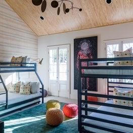 Kids Bedroom with original art by Dawn DeDeaux