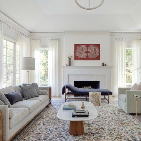 Los Altos Hills Tudor Living Room