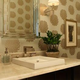Powder Room with Custom Vanity