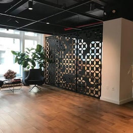 Moroccan inspired custom cut-metal screen panel room dividers