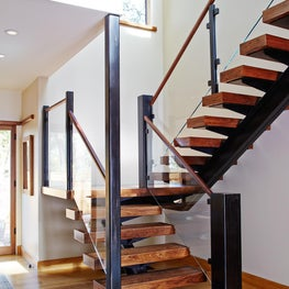 Reclaimed Walnut Staircase