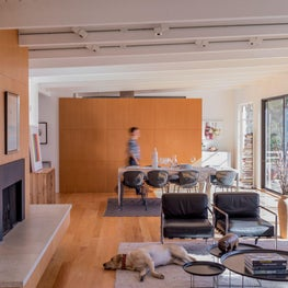 Modern living / dining space.