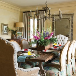 Dining room with handpainted walls