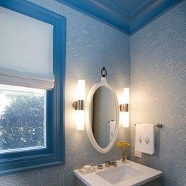 Whimsical Blue Powder Room