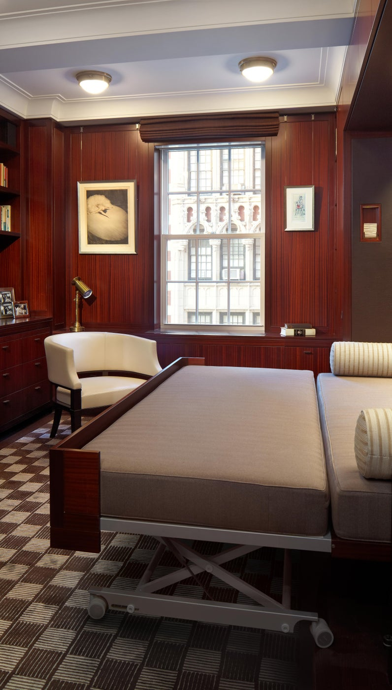 Madison Avenue Residence Library Custom Pull-out Bed