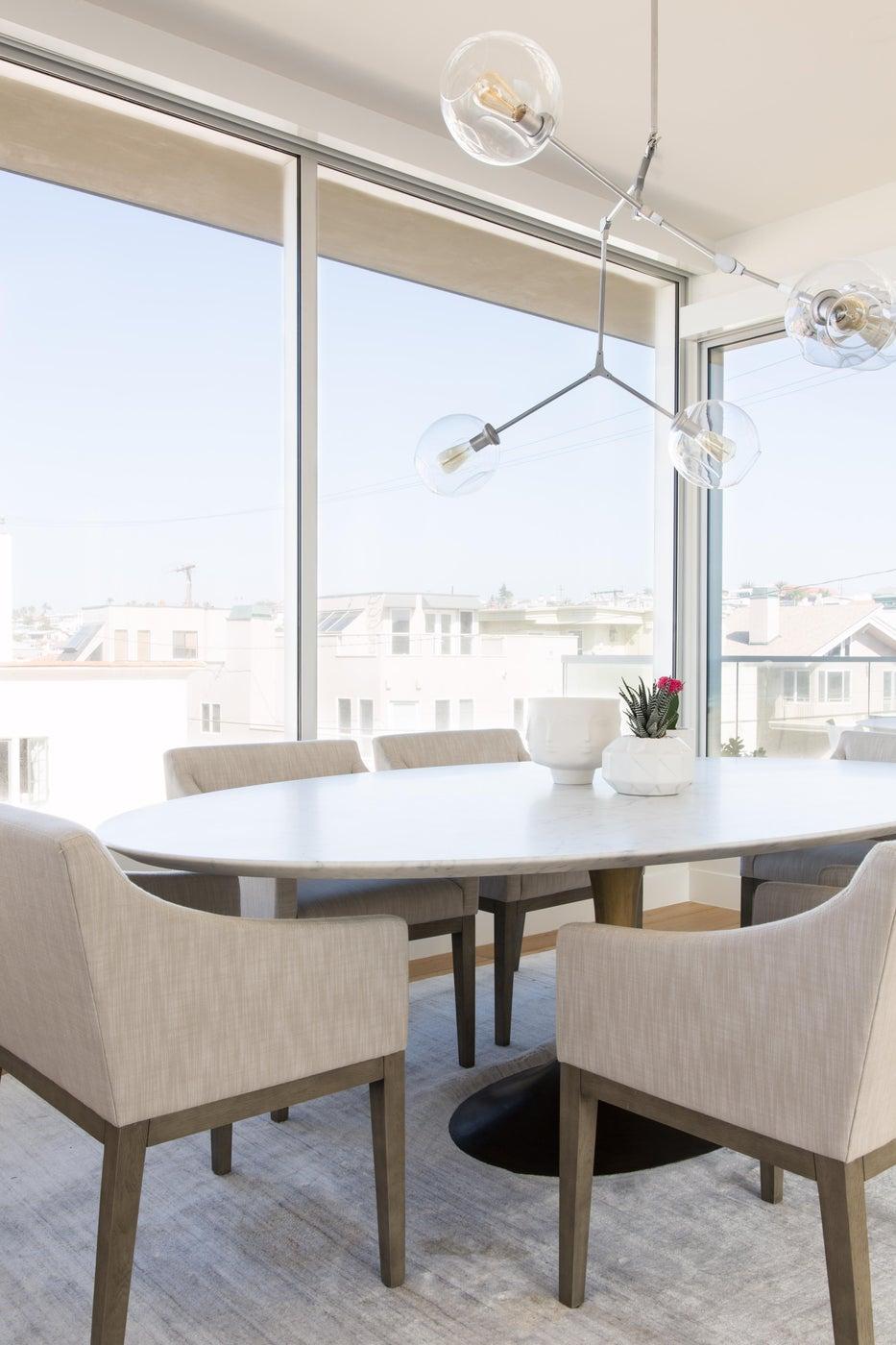 Hermosa Beach Strand House Dining Space