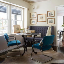 Cozy Breakfast Nook - A nice mix of styles to create a comfortable, compelling space