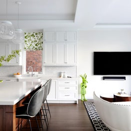 Kitchen & Sitting Room  - white base with a splash of color