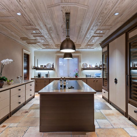 Classically Inspired Miami Kitchen Butler's Pantry