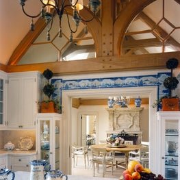 French Country-inspired kitchen of Southampton Estate