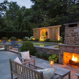 Lighting design adds warmth and allows evening entertaining