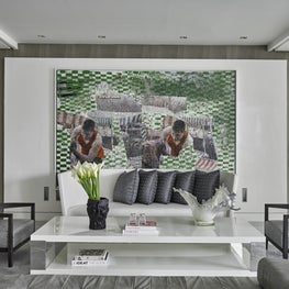 Art Collector's apartment Panama / formal living room