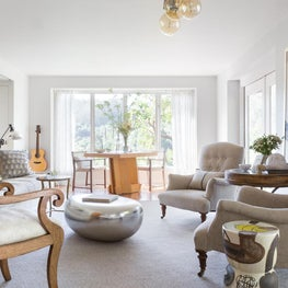 Eclectic Living Room in Soft Grays