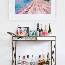 Bar Cart Vignette, Effortless Simplicity