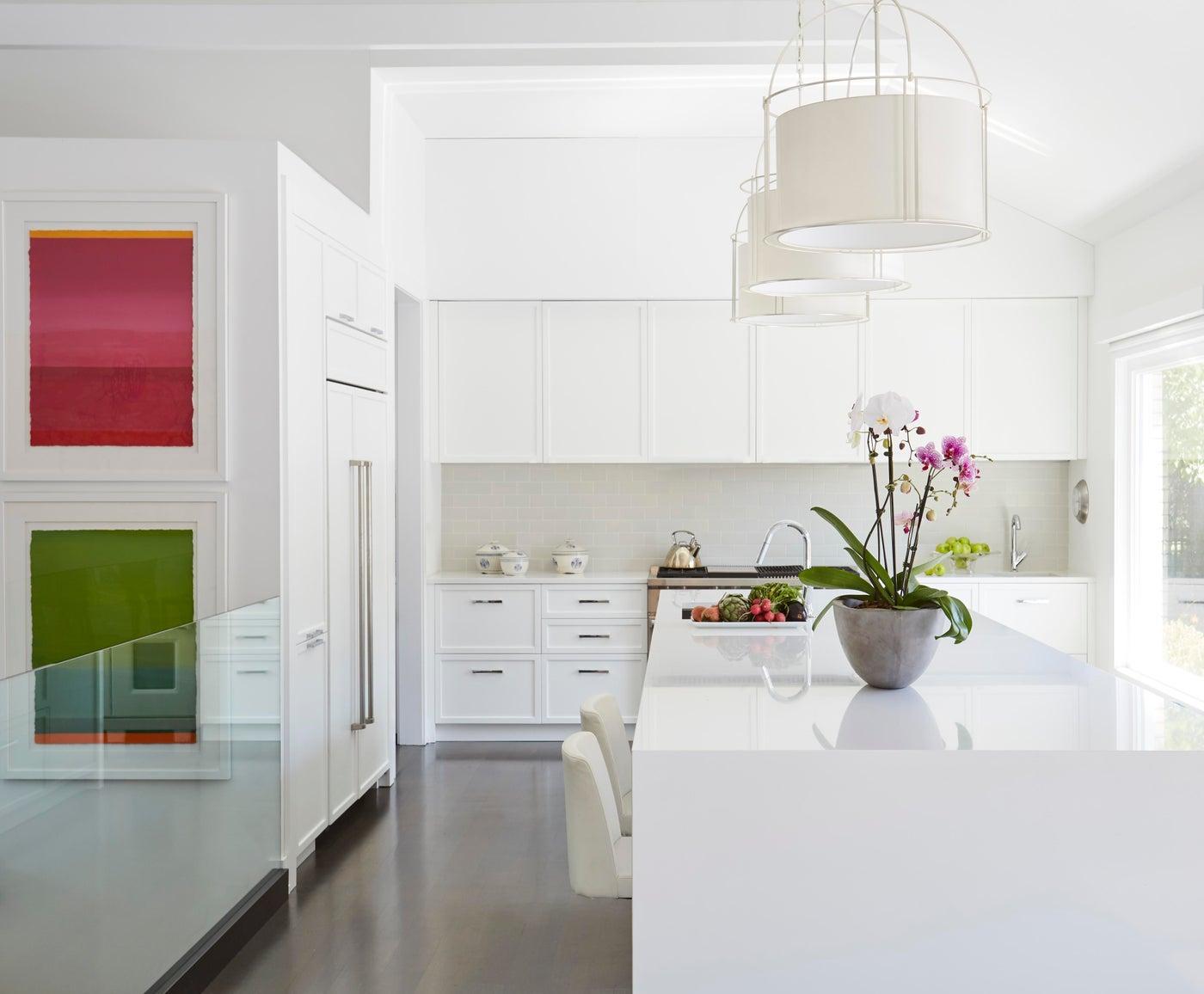 White Modern Kitchen Gut Rehab in Wilmette, IL