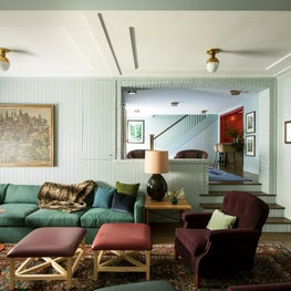 Basement Theater in Santa Monica Historic Craftsman Residence
