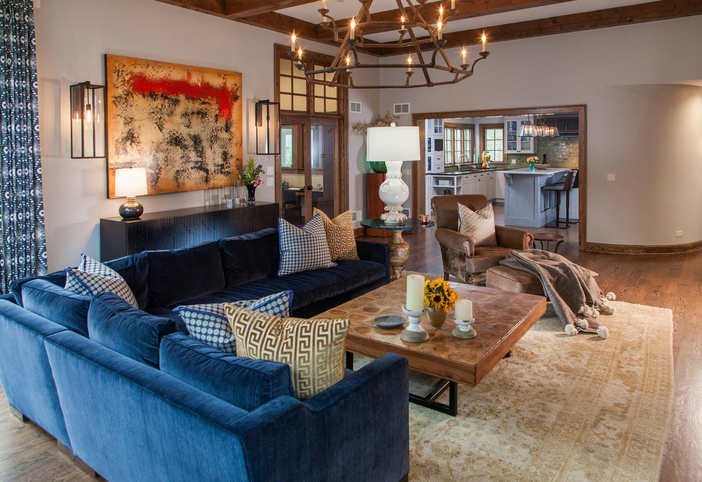 Modern Rustic Family Room -- cozy enough for the whole family to hunker down
