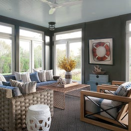 Does a Sun Room need to be white? The moody tones are a cool respite.