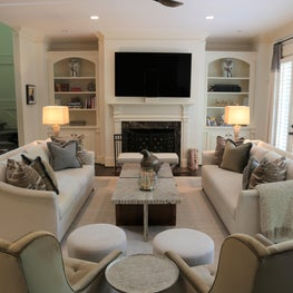 Family Room, Rich in Neutral Tones and Texture.