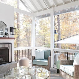 Swivel chairs on Screen Porch