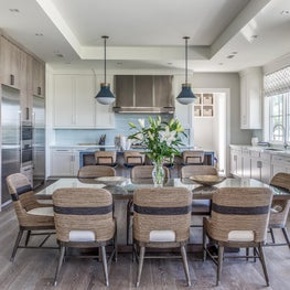 Hamptons modern farmhouse kitchen and dining