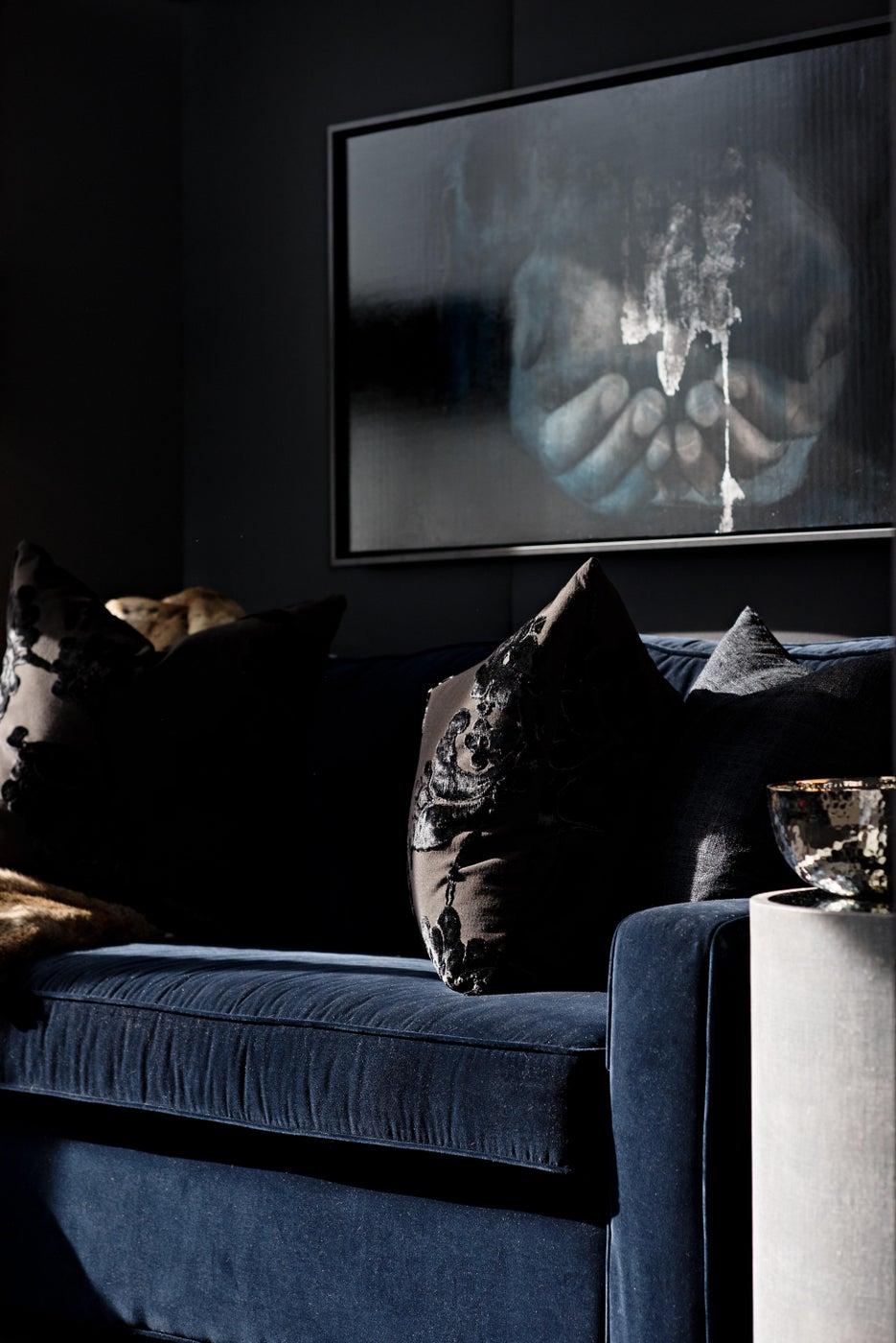 Den designed by Elizabeth Metcalfe Interiors & Design Inc.