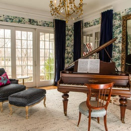 Music room with a classical element