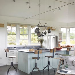 Modern Farmhouse Style Coastal Rhode Island Kitchen