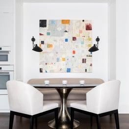 A modern breakfast room.